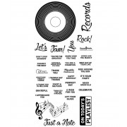 Clear Stamp Set: Vinyl Record ASLCS-053