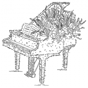 Michelle Masters Cling Mount Stamp - Piano AGC1-2622