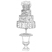 Michelle Masters Cling Mount Stamp - Birthday Cake AGC1-2626