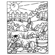 Carolee Jones Cling Mount Stamp - Springtime Scene AGC1-1064