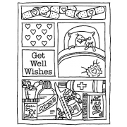 Carolee Jones Cling Mount Stamp - Get Well Mini Frame AGC2-760
