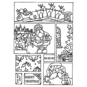 Carolee Jones Cling Mount Stamp - Christmas Cutts Apart AGC3-2473