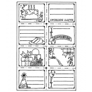 Carolee Jones Cling Mount Stamp: Birthday Book RX3-1067