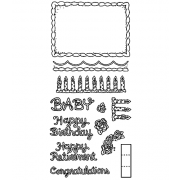 Carolee Jones Clear Stamps: Cake Decorations LC-2672