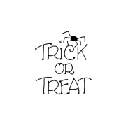 Carolee Jones Wood Mounted Stamp - Spider Trick or Treat E1-1928