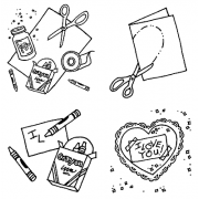 Carolee Jones Cling Mount Stamp Set - Love Under Construction L-2218