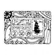 Carolee Jones Cling Mount Stamp: Pirate Frame RX3-2217