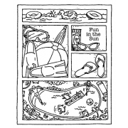 Carolee Jones Cling Mount Stamp - Fun In The Sun Cutts Apart AGC2-2487