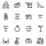 Carolee Jones Clear Stamps: Women's Choice Little Pics SC-2550