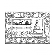 Carolee Jones Cling Mount Stamp: Wedding Frame RX3-2088