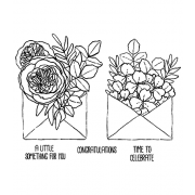 Catherine Scanlon Cling Mount Stamp Set - Gift Enclosures CSCS-2841