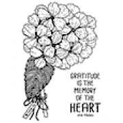 Catherine Scanlon Cling Mount Stamp - Hydrangea Thanks CSCS-2869