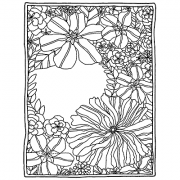 Catherine Scanlon Cling Mount Stamp - Open Floral Frame AGC3-2828