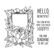 Catherine Scanlon Cling Mount Stamp Set - Rose Frame CSCS-2845