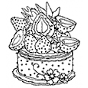Catherine Scanlon Cling Mount Stamp - Strawberry Cake AGC1-2866