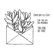 Catherine Scanlon Cling Mount Stamp Set - Succulent Envelope CSCS-2843