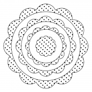 Simple Circles Clear Stamps - Dotty Scallop 3D SC-2433
