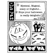Darby New Cling Mount Stamp - Frightful Mini Frame AGC2-1007