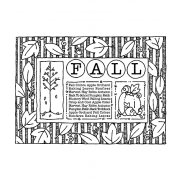 Darby New Cling Mount Stamp: Fall Frame RX3-1997