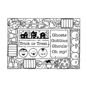 Darby New Cling Mount Stamp: Halloween Frame RX3-1998
