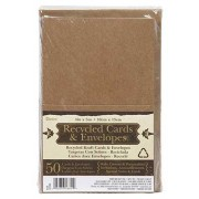 Darice 50 Recycled Kraft Cards and Envelopes - 1210-83