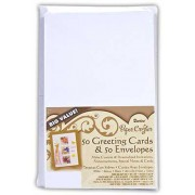 Darice 50 White Greeting Cards and Envelopes - 1103-69