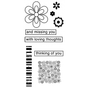 J. Clare Clear Stamps: Thinking of You / Flowers Collage Abilities LC-2424