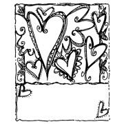 Joanne Sharpe Cling Mount Stamp - Heart Collage Artful Cardmaker AGC2-2555