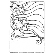Joanne Sharpe Cling Mount Stamp - Stars & Stripes Artful Cardmaker AGC2-2556