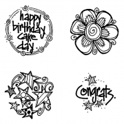 Joanne Sharpe Cling Mount Stamp Set - Stars Punch Set AGC3-2497