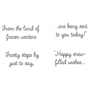 Cling Mount Stamp Set - Land of Frozen Winters M-1522