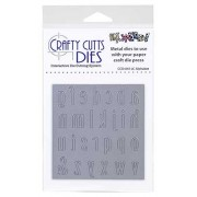 Crafty Cutts Dies - Lower Case Alphabet Metal Die CCD-041