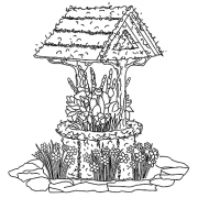 Michelle Masters Wood Mounted Stamp - Wishing Well H2-2599