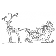 Michelle Masters Wood Mounted Stamp - Sleigh Topiary J2-2676