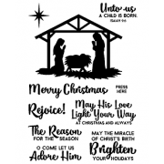 Clear Stamp Set - Nativity ASMCS-002