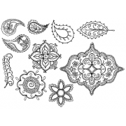 Nicole Tamarin Cling Mount Stamp Set - Indian Lace Elements NT-005