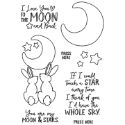 Nicole Tamarin Clear Stamp Set - Moonlight Bunnies NTMCS-004