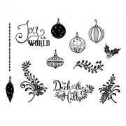 Nicole Tamarin Cling Mount Stamp Set - Small Ornaments NT-009