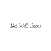 Wood Mount Stamp - Script Get Well D6-1804