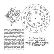 Carolee Jones Wheel Cling Stamp Set - Easter ASCS-005