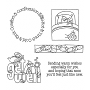 Carolee Jones Wheel Cling Stamp Set - Get Well ASCS-003