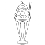 Wood Mount Stamp - Sundae Delight K3-197