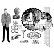 Suzanne Carillo Cling Mount Stamp Sets - Gentleman BZ008