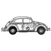 Suzanne Carillo Wood Mounted Stamp - Bug Side J3-2518