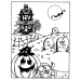 Carolee Jones Cling Mount Stamp - Halloween Scene AGC1-984