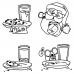 Carolee Jones Cling Mount Stamp Set - Cookies For Santa L-2375
