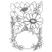 Catherine Scanlon Cling Mount Stamp - Elegant Flower Frame AGC3-2766
