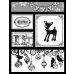 Suzanne Carillo Single Cling Mount Stamp - Joyeux Noel AGC2-2713